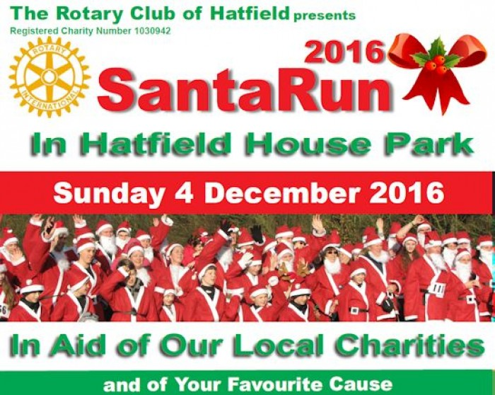 4th Dec: Santa Fun Run, Hatfield