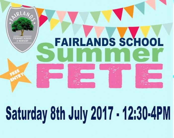 8th July: Fairlands School Summer Fete, Stevenage