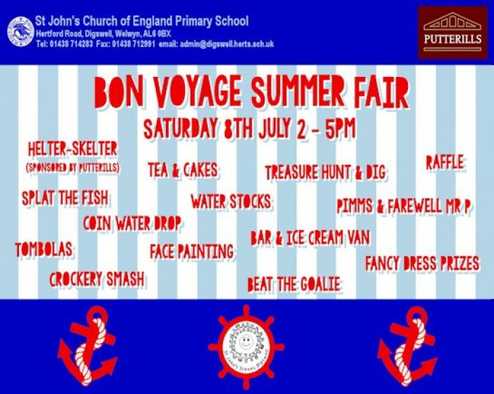 8th July: St John's School Summer Fair, Digswell