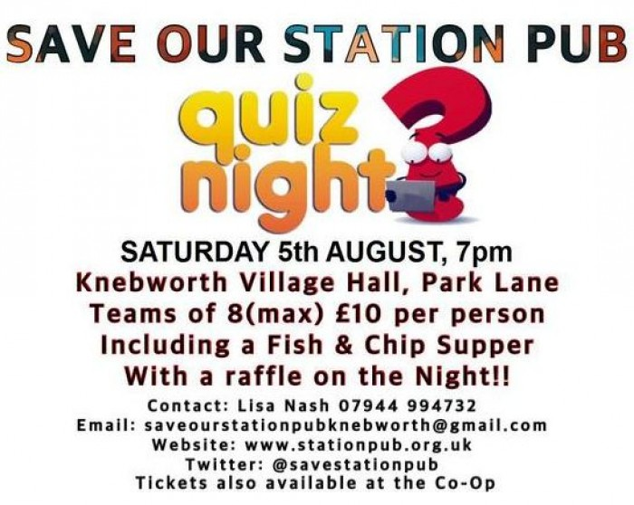 5th Aug: Station Pub Quiz Night, Knebworth