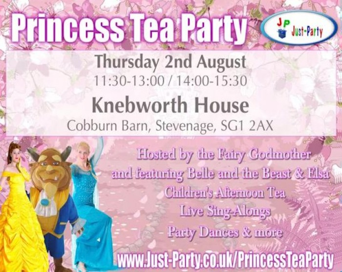 2nd Aug: Princess Tea Party, Knebworth House